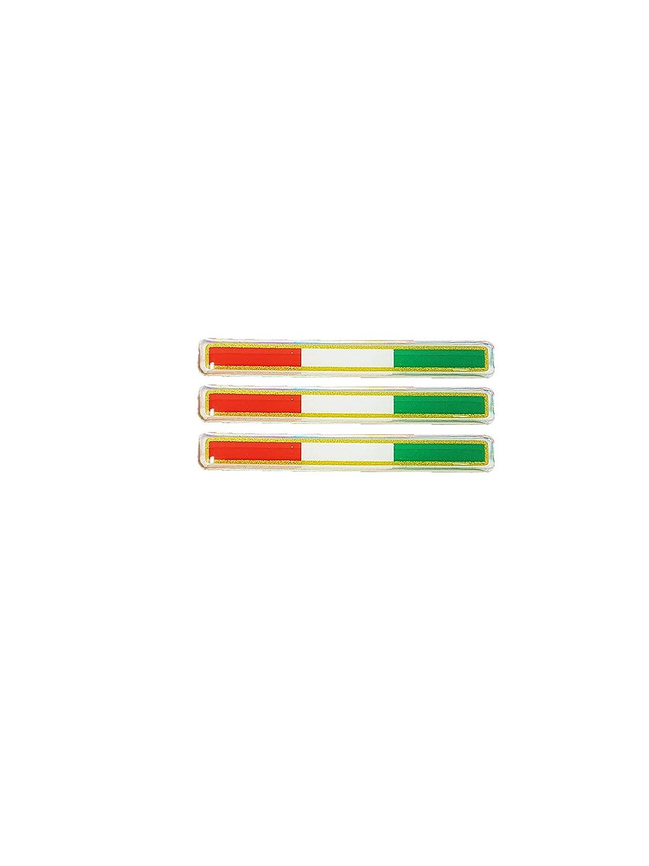 Quattroerre 483 Sticker Tris Bandiere Italia 3D