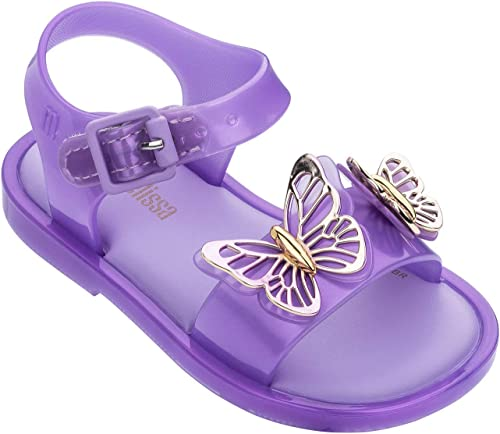 Mini Melissa Infant//Toddler//Little Kids Pink Gold Butterfly Mary Jane Flats Shoe
