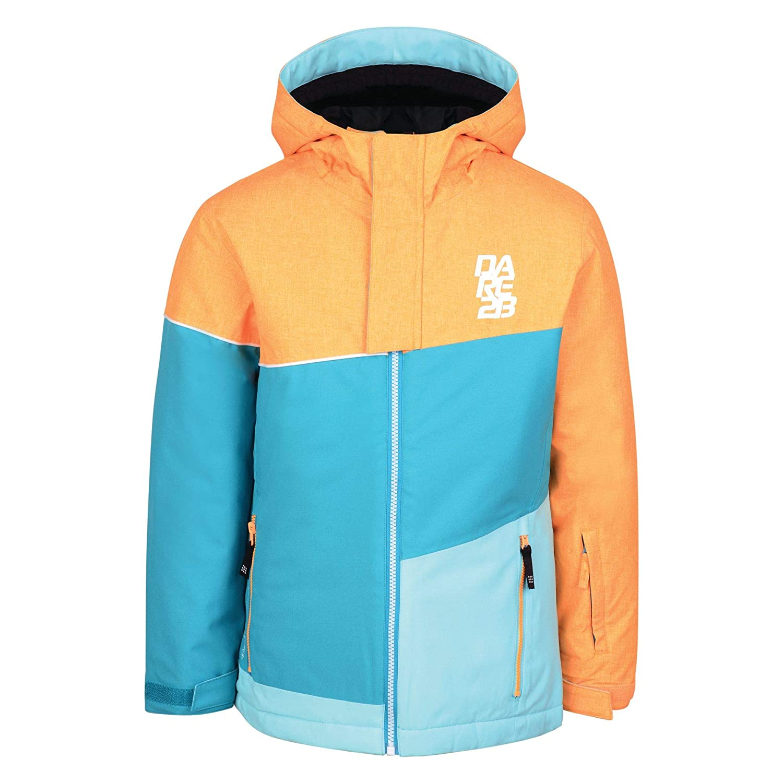Regatta Dare 2B Kids//Childrens Debut Ski Jacket Electric Lime//Fluro Blue 7-8 Years Old