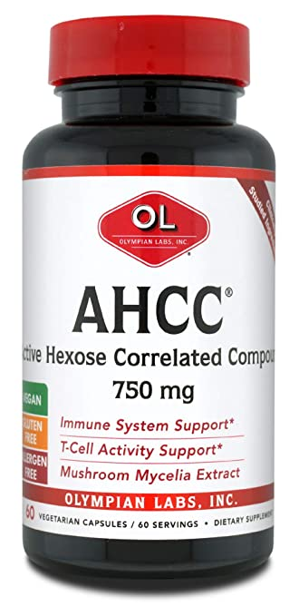 Olympian Labs Premium AHCC Supplement–750mg of AHCC per Capsule–Supports  Immune