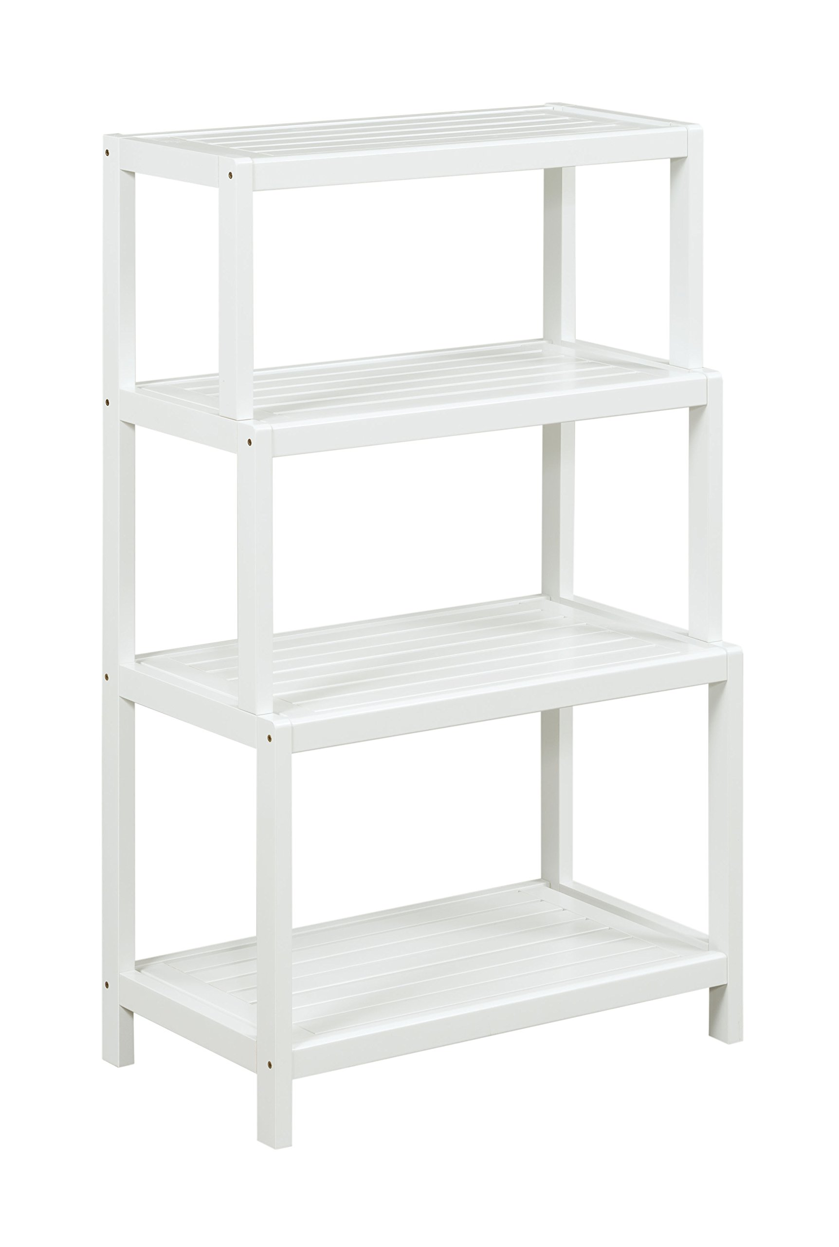 New Ridge 2022-WHT Bookcase Shelf, One Size, White