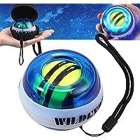 COLFULINE Energybal, gyroscopische handtrainer met led-licht, rotatiebal, pols- en handtrainer, autostart, gripkracht…