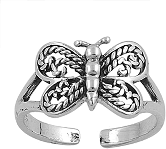 Butterfly .925 Sterling Silver Toe Ring