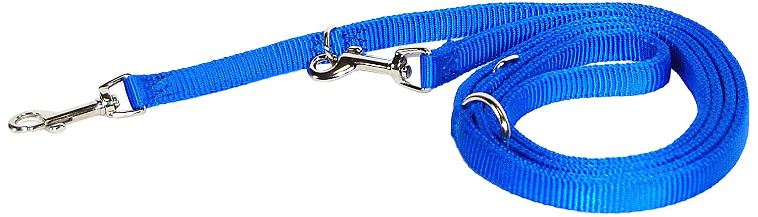 Hamilton Double Thick Nylon European Lead, 5 8-Inch, bluee