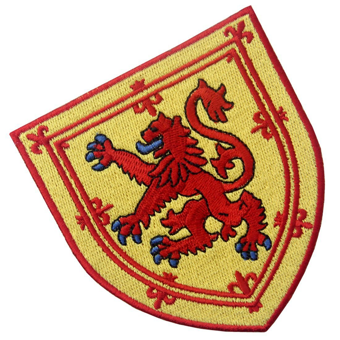 Scotland Coat of Arms Embroidered Emblem Cross Lion Shield Iron On Sew On Patch