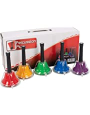 Percussion Plus PP276 - Campanas cromáticas (set de 5), multicolor
