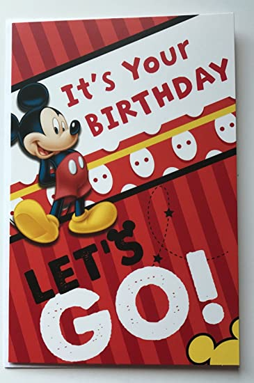 Amazon Disney Mickey Mouse Its Your Birthday Lets Go