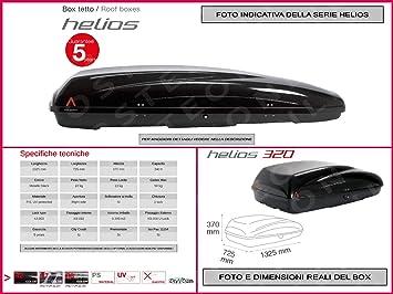 Proposteonline portabagagli Box Tetto Auto 132 x 72 x 37 cm per
