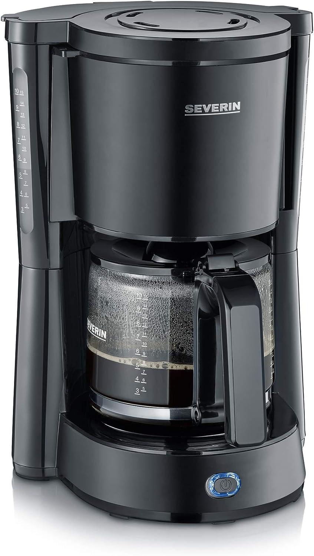 SEVERIN KA 9554 Cafetera (1000 W, 1.25 L, filtro 1 x 4), negro ...