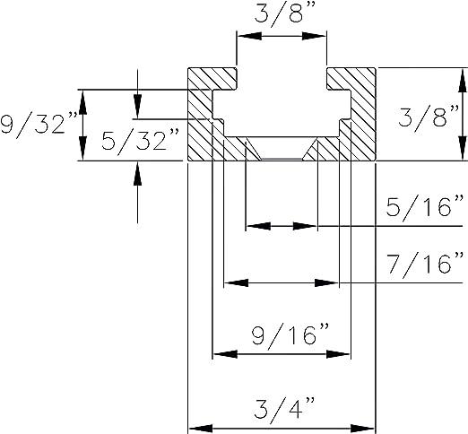 lot de 10 20/par 1 1//5,1/cm Boulons et rondelles Powertec 71068/T-track Boutons avec 1//4