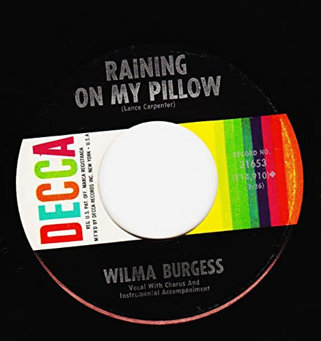 Wilma Burgess - THIS TIME TOMORROW / RAINING ON MY PILLOW (7