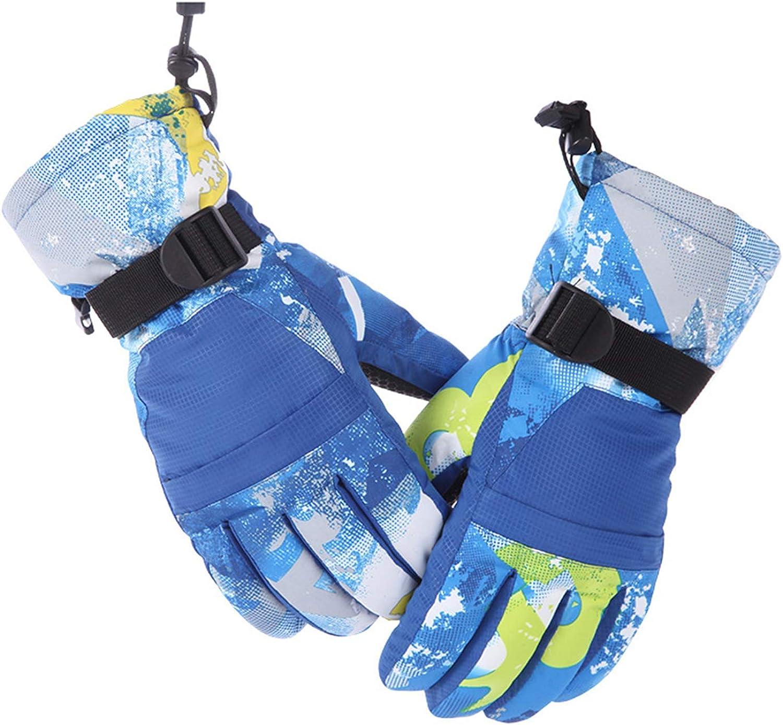 Estilo 2:Azul, XL Aibrou Unisex Guantes de Esqu/í Impermeable Caliente Invierno Guantes Moto para Esqu/í,Ciclismo,Escalada,Monta/ñismo,Deportes al Aire Libre