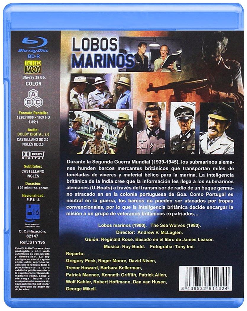 Lobos Marinos BD 1980 The Sea Wolves [Blu-ray]: Amazon.es: Roger Moore, David Niven, Trevor Howard, Barbara Kellerman Gregory Peck, Andrew V. McLaglen: Cine ...