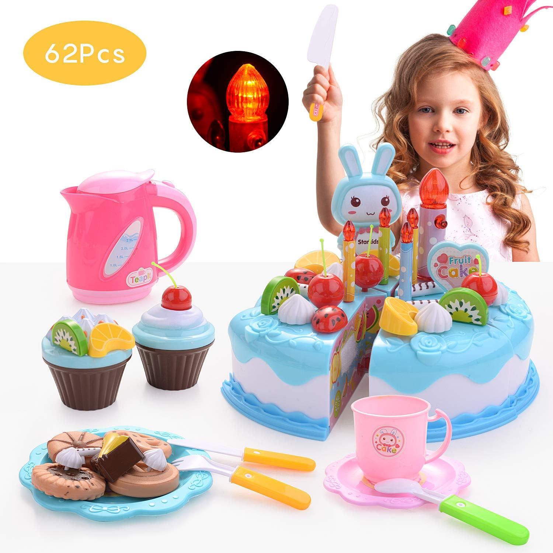 Superb Formizon 62 Pcs Play Food Toys Birthday Cake Toys Diy Birthday Funny Birthday Cards Online Inifodamsfinfo