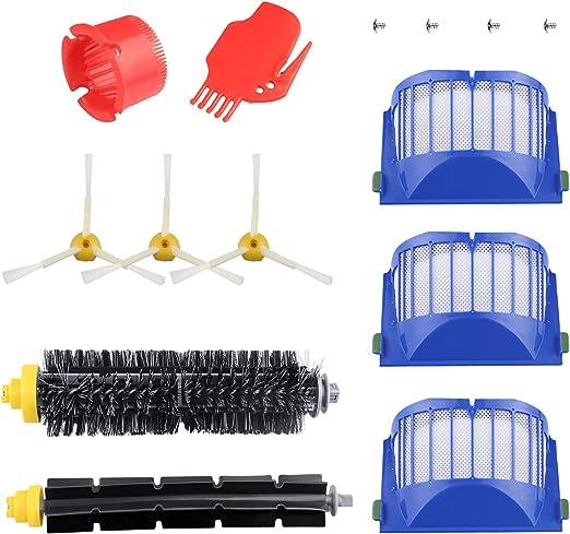 ARyee - Kit de Repuesto de Cepillo de Filtro Compatible con aspiradora iRobot Roomba 600 620 630 650 660 Series: Amazon.es: Hogar