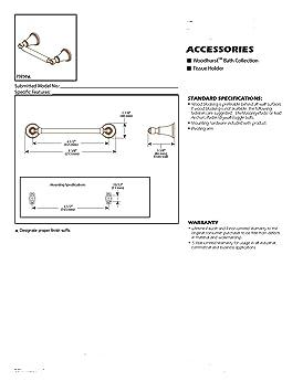 DELTA 73250-RB Woodhurst Toilet Paper Holder Venetian Bronze - - Amazon.com