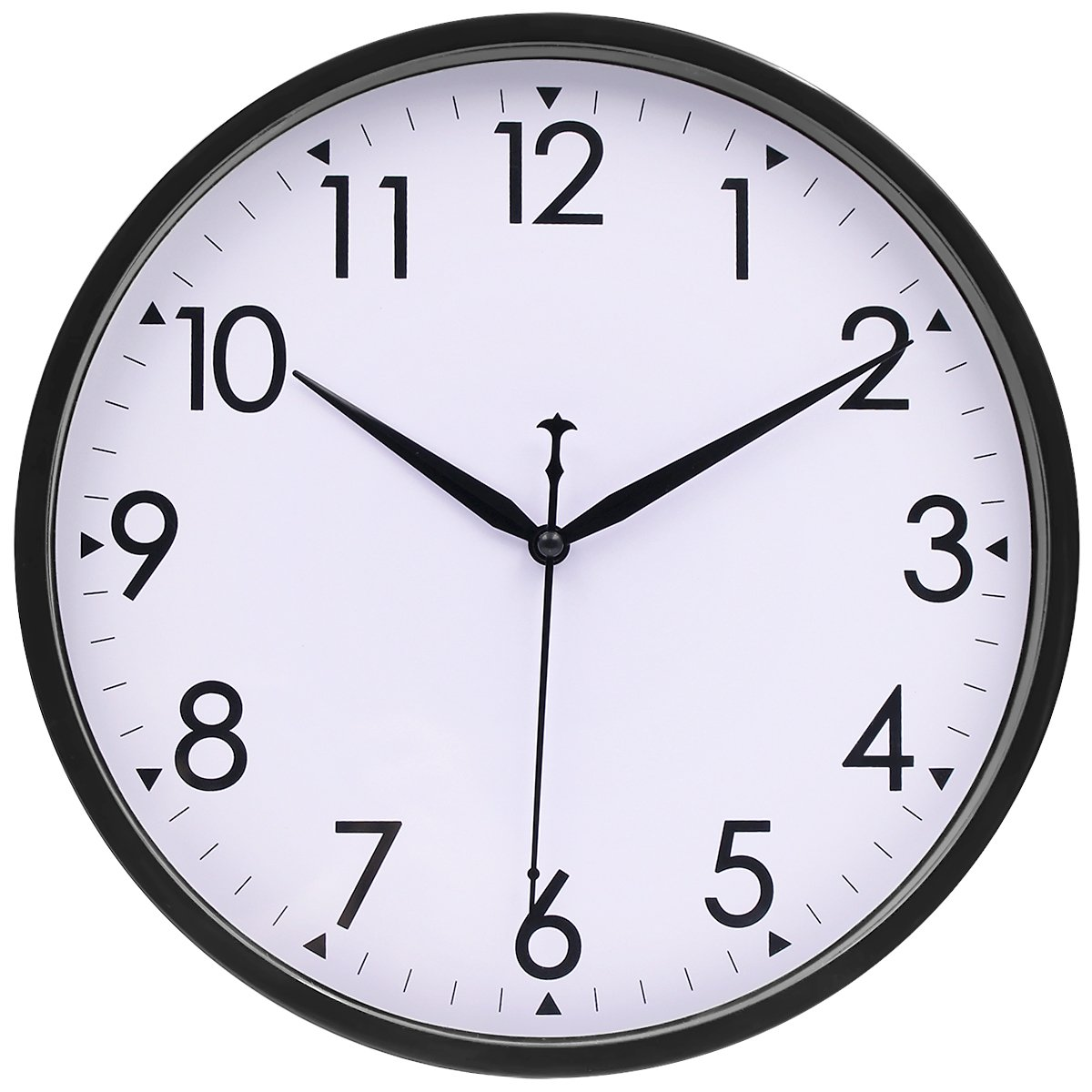 Amazon hippih 10 inch silent non ticking simple wall clock amazon hippih 10 inch silent non ticking simple wall clock black home kitchen amipublicfo Choice Image