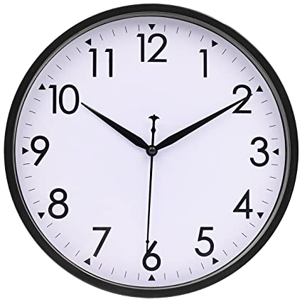 vibrant idea 30 inch clock. Silent Wall Clock  10 Inch Non ticking Simple Large Number Classic Clocks by Hipph Amazon com