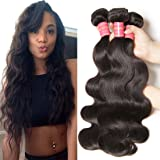 Jolia Hair 6A Grade Virgin Brazilian Body Wave Hair 3Bundles, 100% Unprocessed Human Hair Weave Extensions Can Be Dyed and Bleached