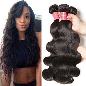 Amazon jolia hair 7a grade brazilian body wave virgin hair 3 jolia hair 7a grade brazilian body wave virgin hair 3 bundles 100 unprocessed brazilian pmusecretfo Image collections