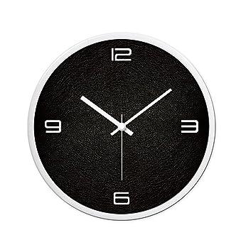 LJF Wall Clock LiuJF Reloj de Pared Negro, (30-35 CM) Tienda de Ropa Tienda de ...