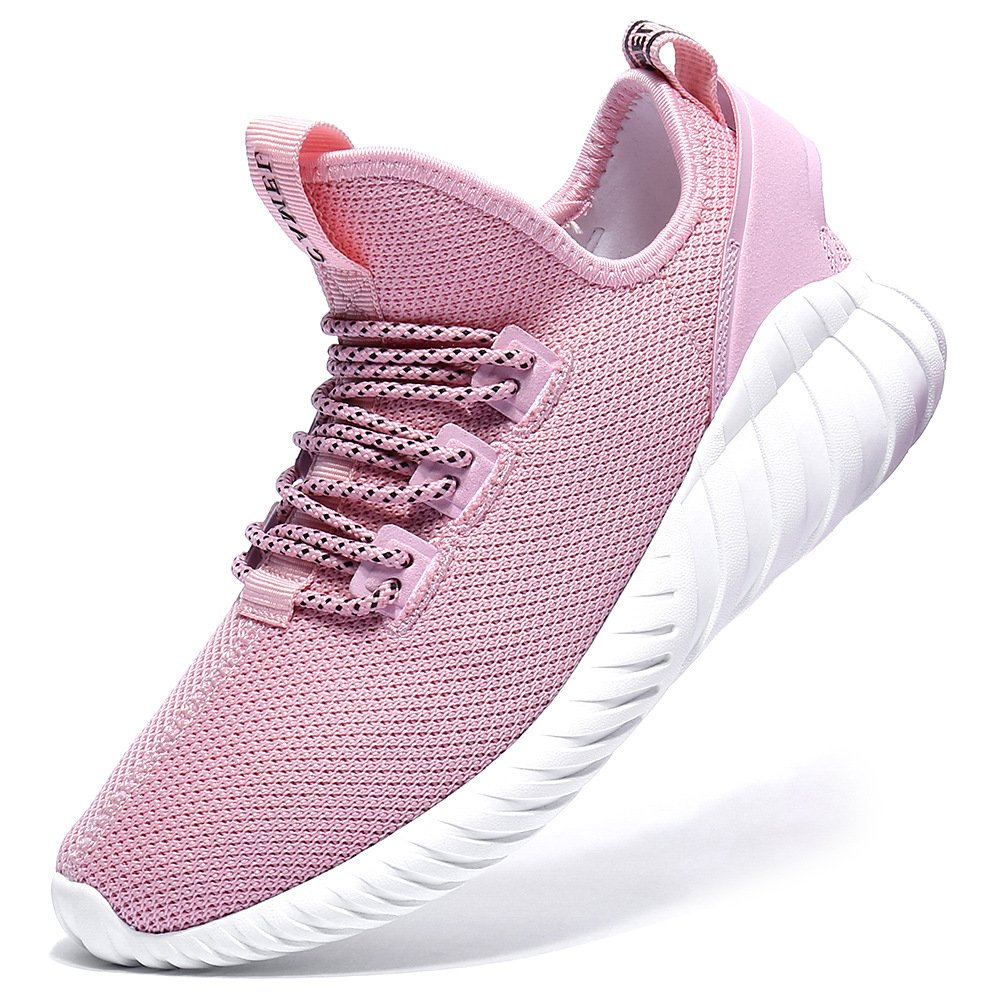 Camel Womens Casual Shoes Fashion Sneaker Lightweight Trail Running Walking Shoes for Women Shockproof Breathable Mesh sport Athletic Sneaker 6.5US 36 Pink