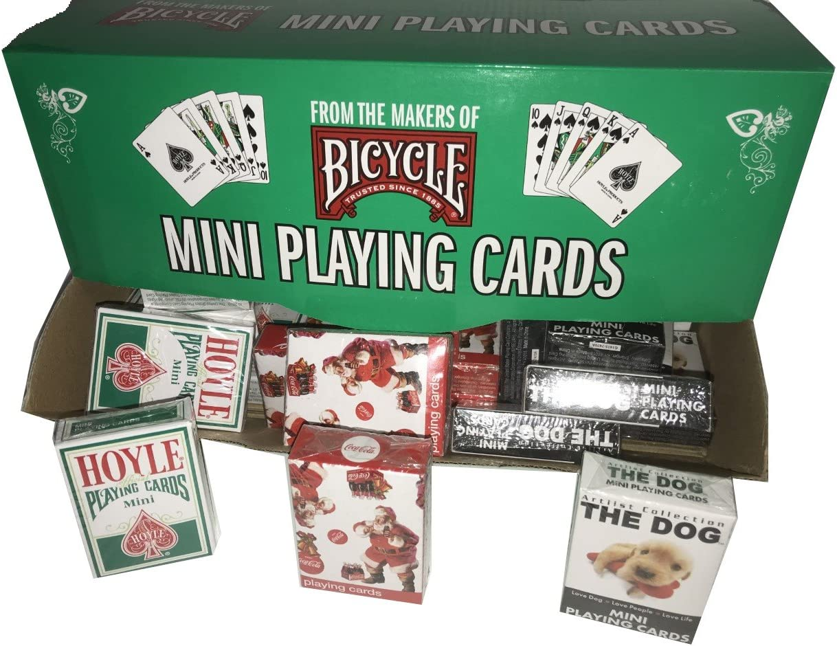 Bicycle Mini Holiday 36 Decks with Display featuring Hoyle Coca-cola /& The Dog
