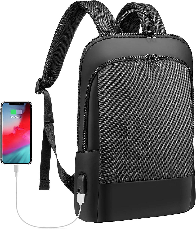 Laptop Backpack for Men Lightweight Laptop Bag Unisex Bookbag Computer Bag Purse for Commuting College, Black, 15.6 Inch