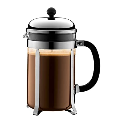 Bodum Chambord French Press Coffee Maker, 51 Ounce, 1.5 Liter, (12 cup), Chrome