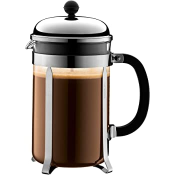 bodum chambord french press coffee maker 51 ounce 1 5 liter 12 cup chrome. Black Bedroom Furniture Sets. Home Design Ideas
