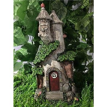 Hi Line Gift Ltd Fairy Garden Castle With Solar LED Lights