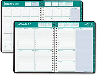 product image for House of Doolittle Express Track Weekly/Monthly Planner 13 Months January 2012 to January 2013, 8.5 x 11 Inch, Black Cover, Recycled (HOD29602)