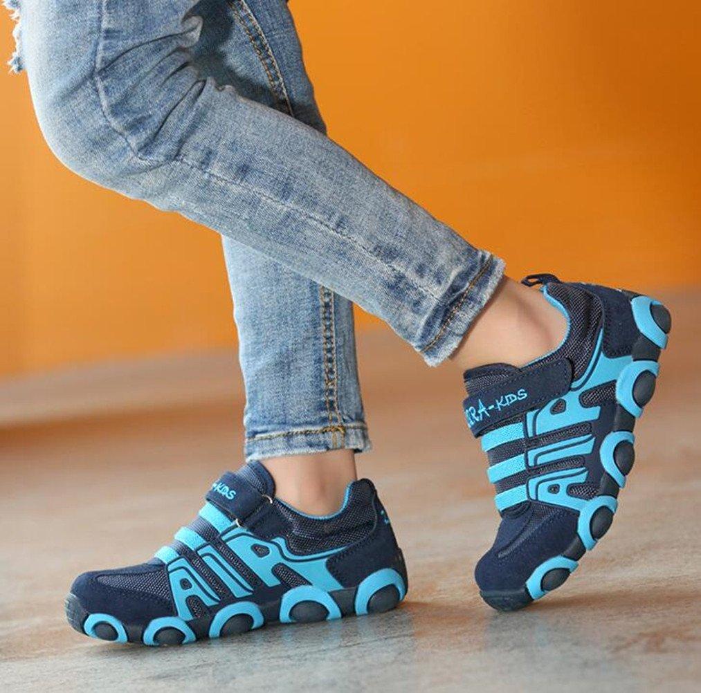 DADAWEN Boy's Girl's Casual Strap Light Weight Sneakers Running Shoes(Toddler/Little Kid/Big Kid) Blue US Size 5 M Toddler by DADAWEN (Image #6)