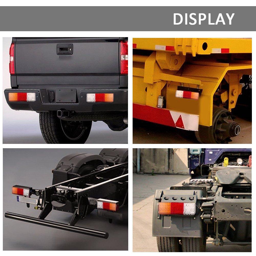 LED Trailer Truck Tail Lights Bar White-red-Yellow High Brightness DC12V 75-LED