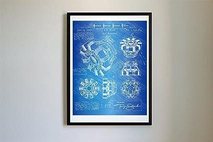 Amazon 114 iron man arc reactor patent art da vinci patent 114 iron man arc reactor patent art da vinci patent prints poster malvernweather Images