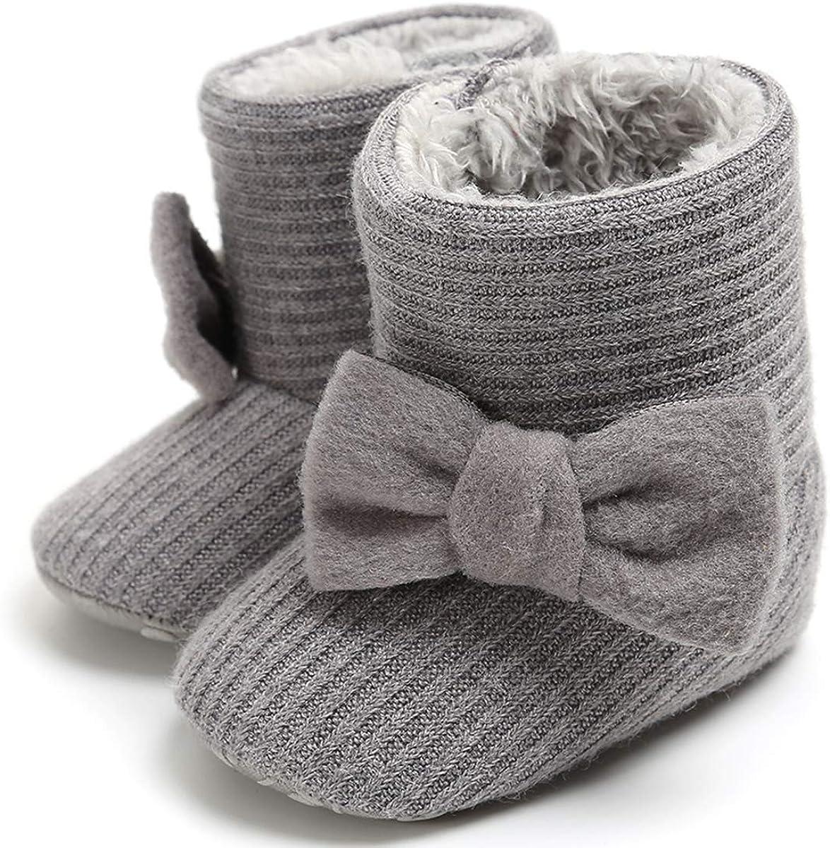 LIVEBOX Prewalker Toddler Boots Premium Soft Anti-Slip Sole Warm Winter Boots for Infant Baby Girls