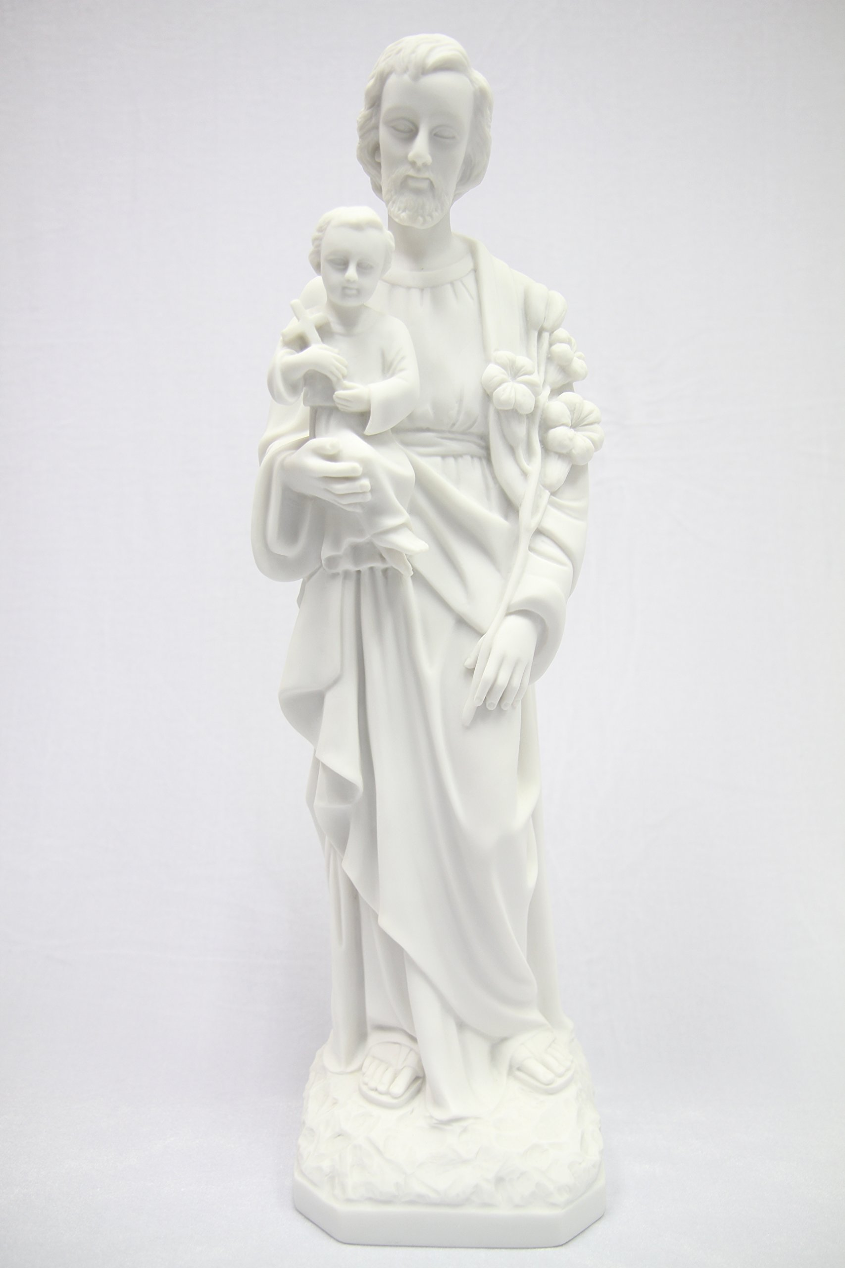 19'' Saint St Joseph with Holy Child Jesus Baby Catholic Religious Statue Sculpture Vittoria Collection Made in Italy Indoor Outdoor Garden