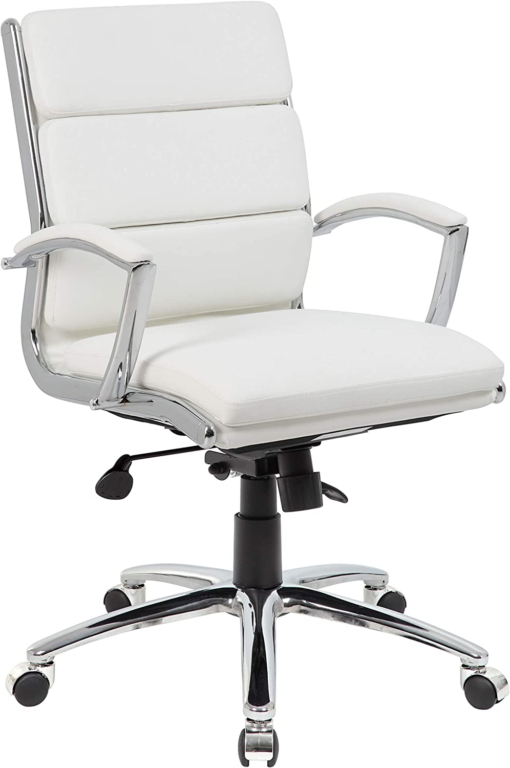 Boss Office Products (BOSXK) Executive Mid Back Chair, White