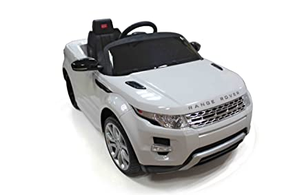 Amazon Com Best Ride On Cars Range Rover Evoque 12v White Toys