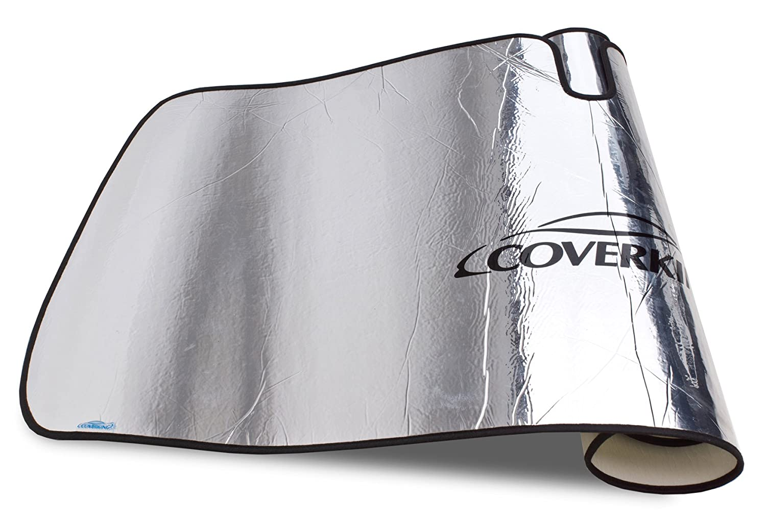 Silver Coverking Custom Sunshade for Select Jeep Wrangler Models Reflective Mylar Foam