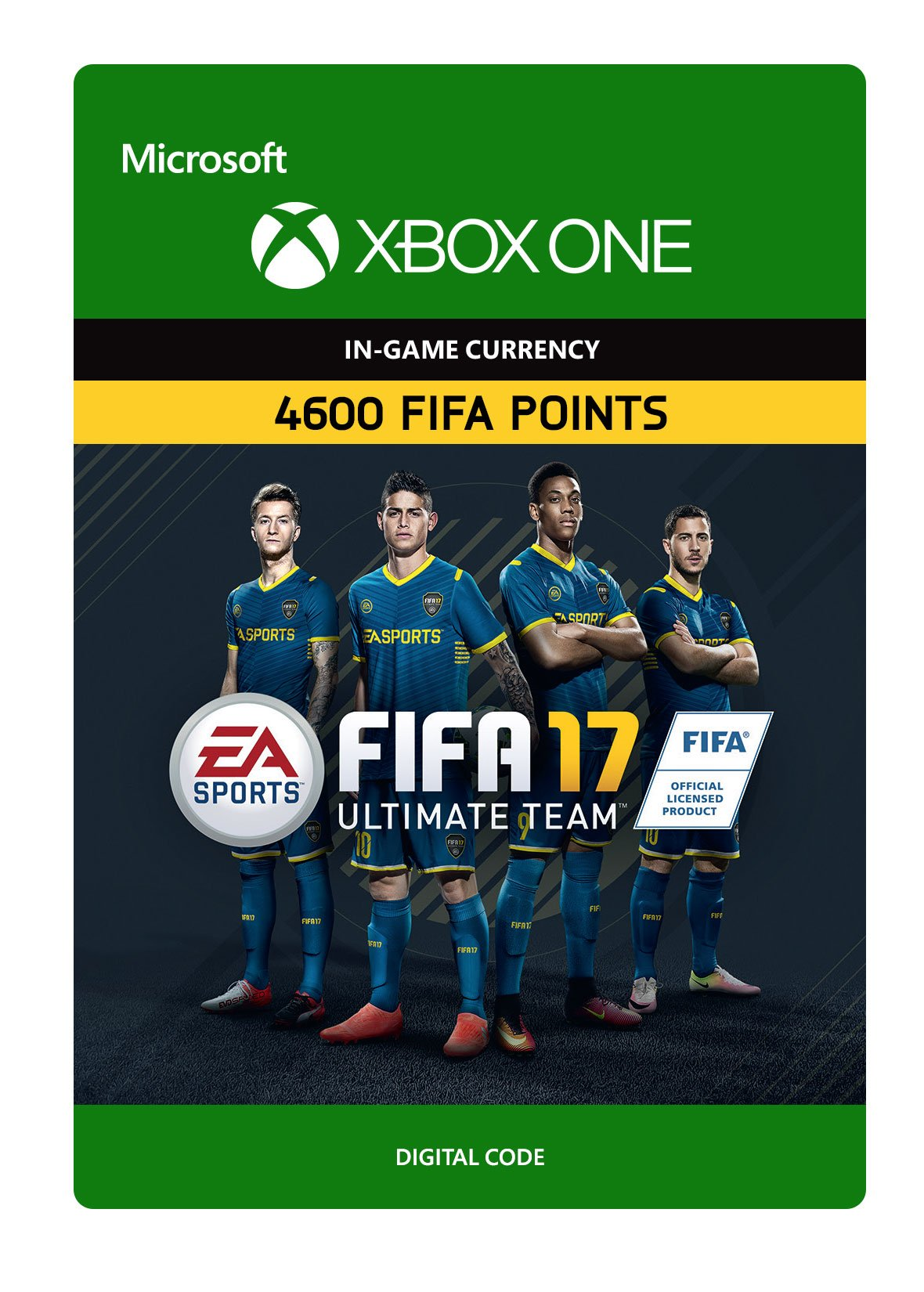 FIFA 17 Ultimate Team FIFA Points 4600 - Xbox One Digital Code