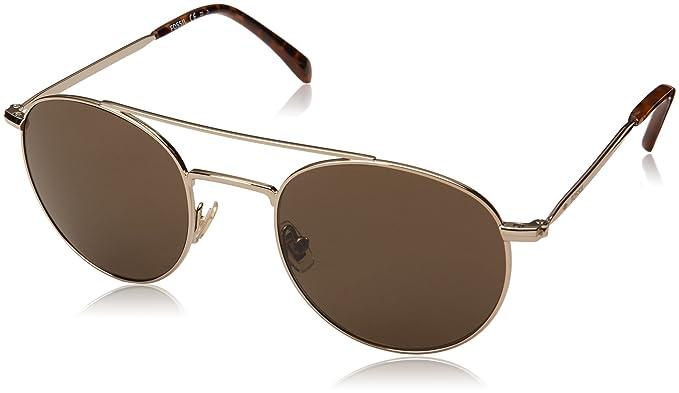 842016c849 Amazon.com  Fossil Men s Fos 3069 s Round Sunglasses GOLD HAVN 51 mm ...