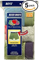 Fruit of the Loom Assorted Toddler Boys' Boxer Brief(Colors and prints may vary) (Pack of 5)