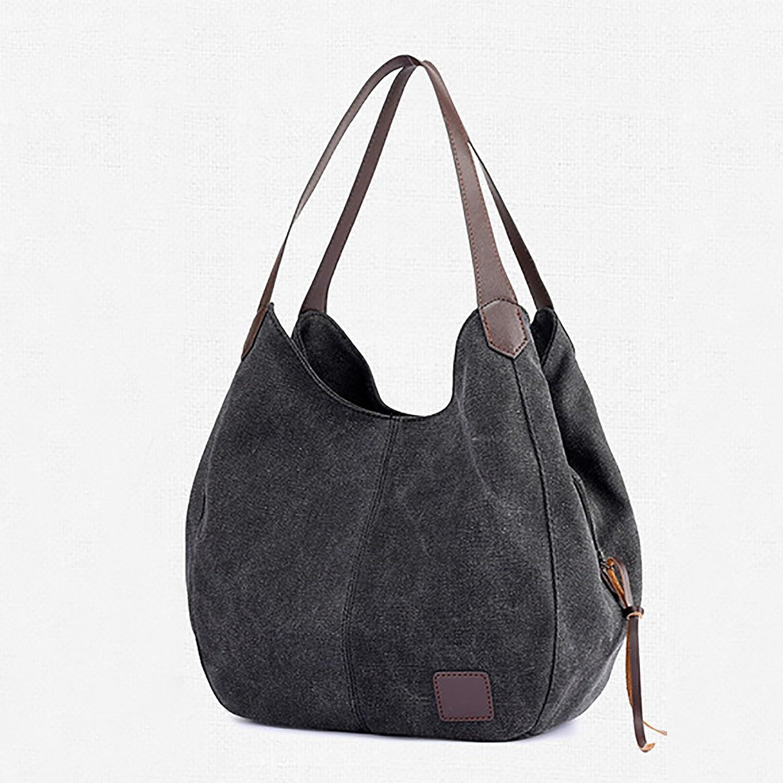 f923c8e39722 Amazon.com: Fanspack Canvas Hobo Handbags for Women Vintage Top ...