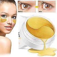 Dr Nezix Or Masque pour les yeux, masque pour les yeux au collagène, tampons pour les yeux en or Anti-vieillissement Correcteurs pour les yeux à l'acide hyaluronique pour anti-vieillissement, cernes et poches, anti-rides, hydratant, blanchissant (30 paires)