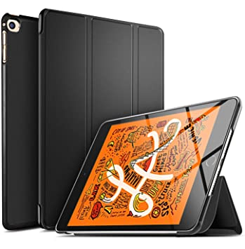 ELTD Funda Carcasa para iPad Mini 5 2019, Ultra Delgado Silm Stand Función Smart Fundas Duras Cover Case para iPad Mini 5 2019 Tableta, (Negro)