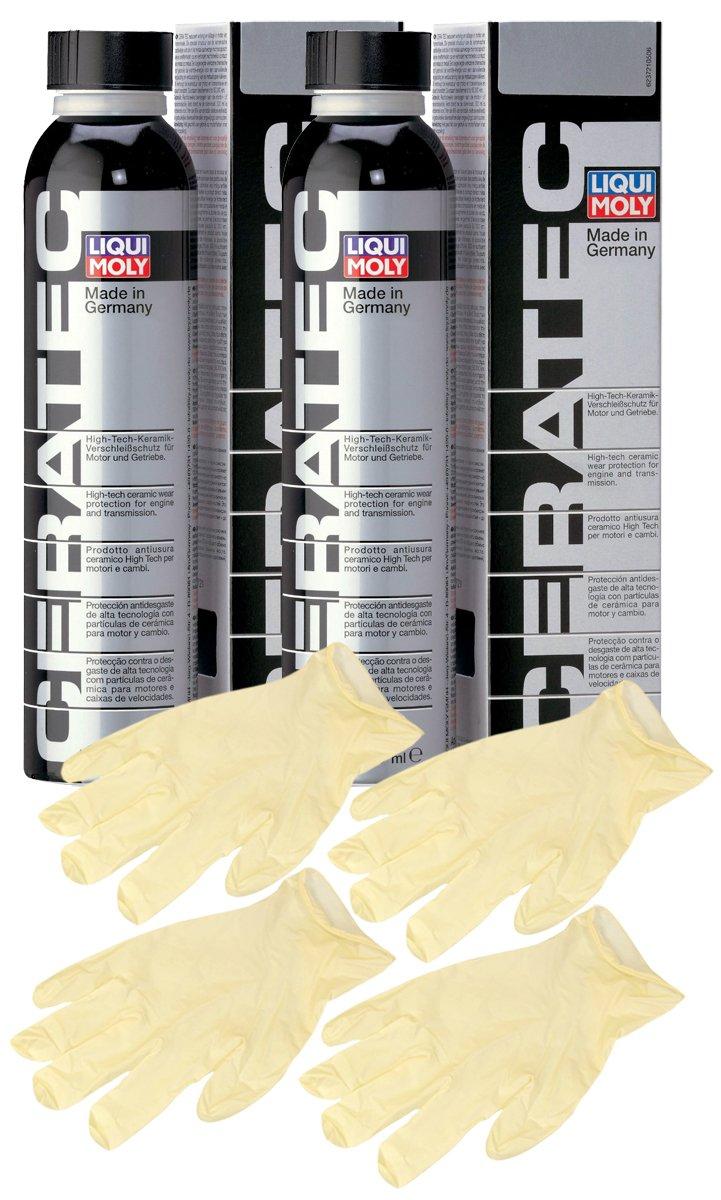 liqui-moly Cera Tec Motor Oil Additive ( 300 ml ) Bundle withラテックス手袋( 6 Items ) B01MQT7VPW