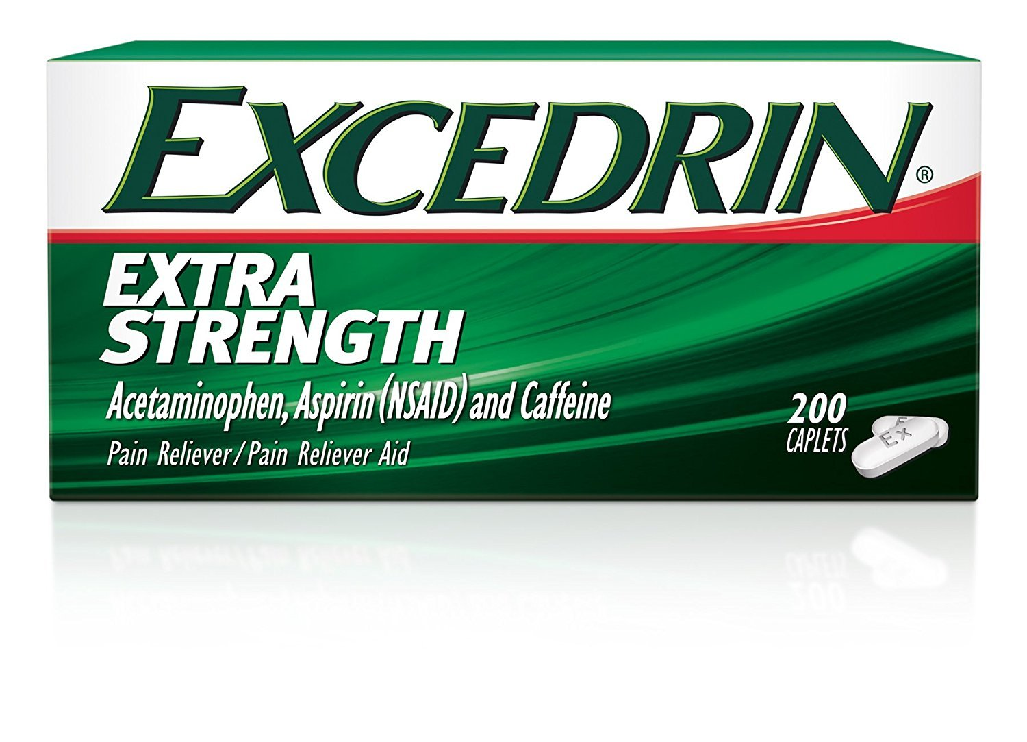 Excedrin Extra Strength Pain Relief Caplets (4 Pack ,300 count Each ) Ck#XDF