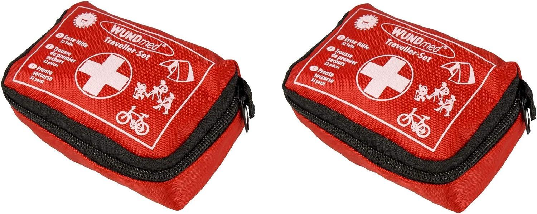 Wundmed - Juego de primeros auxilios, 32 piezas, incluye práctico estuche con cinturón