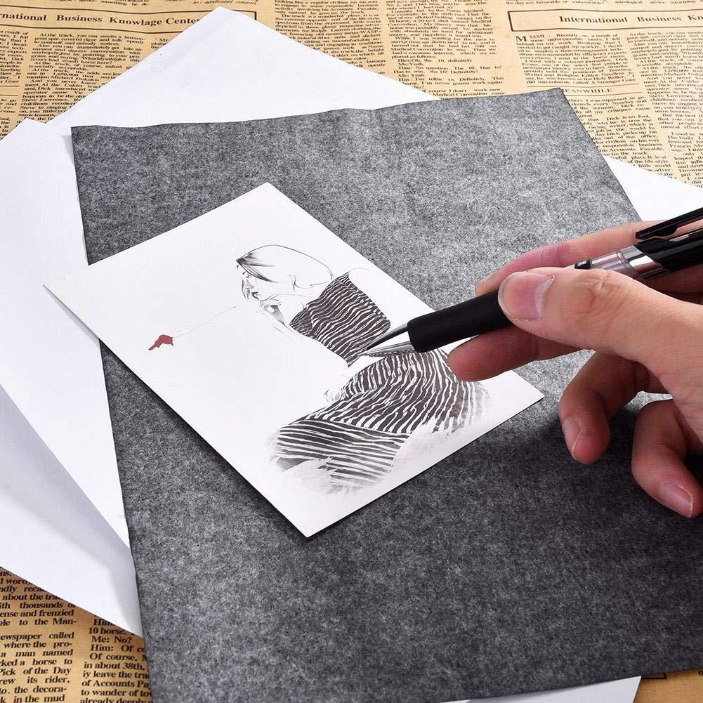 Toile 23 33cm blendivt 25 PCs Papier de Transfert de Carbone de Papier de Graphite Papier